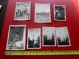 CRESTET Vaucluse En 1937 LOT De 7 PHOTO PHOTOGRAPHIES ORIGINALES -SCOUT Scoutisme GUIDES De FRANCE- SCOUTING - Orte