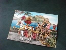 CARRETTO SICILIANO  CHARRETTE CART SIZILIANISCHER KARREN UOMINI  E DONNE IN COSTUME PALERMO MONDELLO - Costumi