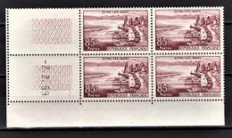 FRANCE 1959 - BLOC DE 4 TP / Y.T. N° 1193 - NEUFS** COIN DE FEUILLE / DATE - Coins Datés