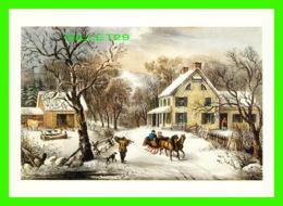 ARTS PEINTURES - AMERICAN HOMESTEAD WINTER - CURRIER & IVES, 1868 - 1992 DOVER PUB. INC - - Peintures & Tableaux
