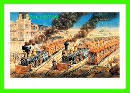 ARTS PEINTURES -  AN AMERICAN RAILWAY SCENE AT HORMELLSVILLE FOR CURRIER & IVES, 1876 - 1992 DOVER PUB. INC - - Peintures & Tableaux