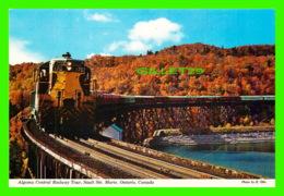 TRAINS - ALGOMA CENTRAL RAILWAY TOUR, SAULT STE MARIE, ONTARIO - PHOTO  BY E. OTTO - CAVALIER - - Trains