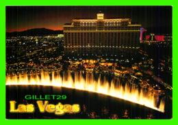 LAS VEGAS, NV - BELLAGIO HOTEL & CASINO AT NIGHT - VEGAS SERIES - - Las Vegas