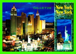 LAS VEGAS, NV - NEW YORK NEW YORK HOTEL & CASINO AT NIGHT - VEGAS SERIES - - Las Vegas