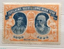 JUBILAUMS SUSSTELLUNG WIEN 1898    ERINNOFILO CHIUDILETTERA ETICHETTA PUBBLICITARIA - Francobolli