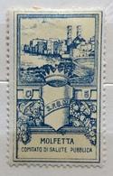MOLFETTA COMITATO DI SALUTE PUBBLICA  CENT. 5   ERINNOFILO CHIUDILETTERA ETICHETTA PUBBLICITARIA - Francobolli