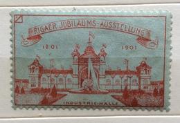 RIGAER JUBILAUMS AUSSTELLUNG  1201 1901  ERINNOFILO CHIUDILETTERA ETICHETTA PUBBLICITARIA - Francobolli