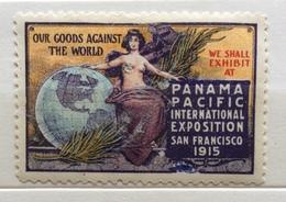SAN FRANCISCO 1915 PANAMA PACIFIC INTERNATIONAL EXPOSITION   ERINNOFILO CHIUDILETTERA ETICHETTA PUBBLICITARIA - Francobolli