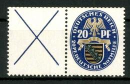 Deutsches Reich, MiNr. W 20.1, Falz / Hinge - Se-Tenant