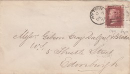 GOOD OLD GB Postal Cover 1874 - Victoria - Covers & Documents
