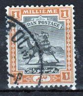 Sudan 1927 Single 1 Millieme Stamp Showing Arab Postman On Camel. - Sudan (...-1951)