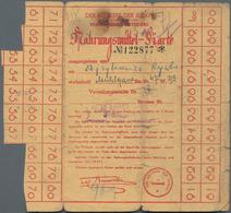 """Ghetto-Post: Litzmannstadt: Nahrungsmittelkarte Mit Vordruck """"DER AELTESTE DER JUDEN In Litzmannstad - Deutschland"""