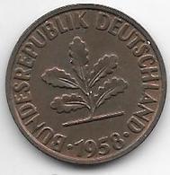 *2 Pfennig 1958 G Km 106  Vf+ - [ 7] 1949-… : FRG - Fed. Rep. Germany