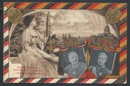 +++CPA - BRUSSEL - BRUXELLES - Souvenir De La Visite Des Souverains Allemands  1910 - Famille Royale  // - Feesten En Evenementen
