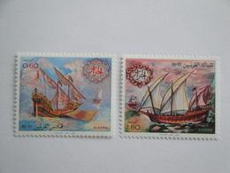 1981 Algérie Yv  751/2 ** MNH Bateaux Ships Cote 3.50 € Michel 982/4  Scott  679/80  SG 807/808 - Algérie (1962-...)