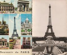 PARIS - Lot De 6 CPSM Sur La Tour Eiffel - Tour Eiffel