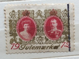 SVEZIA  1912 JULEM....  ERINNOFILO CHIUDILETTERA ETICHETTA PUBBLICITARIA - Francobolli