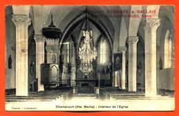 """CPA 52 Champcourt """" Intérieur De L'église """" Pub Chocolat Debauve Et Gallais - France"""