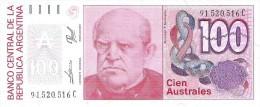 Argentina - Pick 327c - 100 Australes 1985 - 1990 - Unc - Argentine
