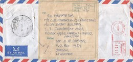 "Myanmar Burma 1995 Yangon Meter Pitney Bowes-GB ""5000"" EMA Registered Cover - Myanmar (Burma 1948-...)"