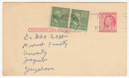 US, Rutgers University Postal Stationery Postal Card Travelled 1956 Newark Pmk B190201 - Entiers Postaux