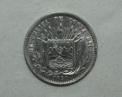 Silber/Silver Costa Rica, 1890 Heaton, 25 Centavos Funz/AU - Costa Rica