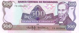 Nicaragua - Pick 155 - 500 Cordobas 1985 - Unc - Nicaragua