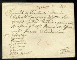 TYRNAU / NAGYSZOMBAT  1810. Cca. Dekoratív Potós Levél, Piros Bélyegzéssel (7 átmenő állomás Feltüntetésével)  (400p)  / - Slovakia