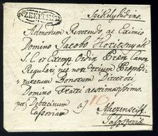 SZÉKELYHÍD 1835. Cca. Szép Portós Levél Meczenzef-re Küldve (350p)  /  Ca 1835 Nice Unpaid Letter To Meczenzef  (350p) - Hungary