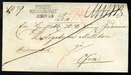 """ESZÉK 1838. Levél """"ESZEK RECOMANDIRT"""" """"FRANCO"""" Budára Küldve  /  Letter Franco Pmk To Buda - Croatia"""