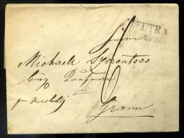 NYITRA 1849.09. Portós Levél, Tartalommal Esztergomba Küldve  /  NYITRA 1849.09. Unpaid Letter Cont. To Esztergom - Slovakia