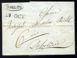 """SZILÁGYSOMLYÓ 1843. Portós Levél, Tartalommal Dátumos """"SOMLYO"""" Bélyegzéssel Debrecenbe Küldve  /  1843 Unpaid Letter Con - Hungary"""