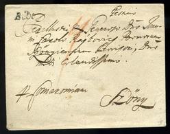 """BUDA 1773. Szép Portós Levél Szőnybe Küldve """"Bude"""" Bélyegzéssel (600p)  /  1773 Nice Unpaid Letter To Szőny """"Bude"""" Pmk ( - Hungary"""
