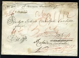"""VARASDIN 1823. Érdekes, Tovább és Visszaküldött Ex Offo Levél """"V.VARASDIN""""  (400p)   /  Intr. Forwarded And Returned Off - Croatia"""