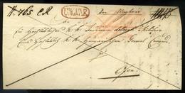 UNGVÁR 1841. Dekoratív Franco Levél, Piros Bélyegzéssel, Tartalommal, Nagyon Szép Vízjeles Papíron Pestre Küldve  /  Dec - Ukraine