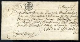 """BÁRTFA 1774. Portós Levél Eperjesre Küldve Postakürtös """"BARTFELDT"""" Bélyegzéssel! Az Egyik Legritkább Bélyegzés! (G: RR!) - Slovakia"""