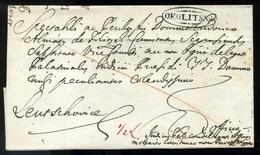 OKOLITSNA 1819. Szép Levél Lőcsére Küldve  /  Nice Letter To Lőcse - Slovakia