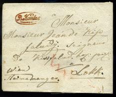 """NAGYKOMLÓS / Comloșu Mare/ Bánátkomlós 1820-30. Szép Portós Levél, Luxus """"B.Komlós"""" Piros(!) Bélyegzéssel,igen Ritka,jó  - Hungary"""