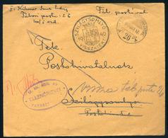 SZILÁGYSOMLYÓ 1940.  II. VH Táboriposta Levél, Visszatért Bélyegzéssel, Visszaküldéssel  /  WW II FPO Letter Military Pm - Covers & Documents