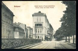 BUDAPEST 1912. Budai Korzó, Fiume Szálloda, Régi Képeslap  /  1912 Buda Promenade, Hotel Fiume, Vintage Pic. P.card - Hungary