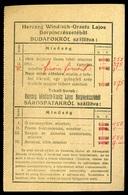 BUDAFOK 1914. Herczeg Windisch-Graetz Lajos Borpincészete, Ritka árlap, Levelezőlap  /  Winery Rare Price List P.card - Old Paper