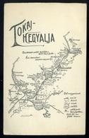 TOKAJ HEGYALJA Ritka Térképes Képeslap, 1917.  /  TOKAJ Foothills Rare Pam Pic. P.card 1917 - Hungary