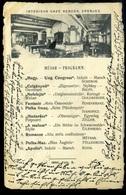 EPERJES 1901. Café Berger, Ritka Képeslap  /  1901 Café Berger Rare Pic. P.card - Slovakia