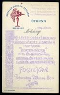 MISKOLC 1925. Böczögő Étterem, Ritka Képeslap, Menükártya !  /  1925 Restaurant Böczögő Rare Vintage Pic. P.card, Menu C - Hungary