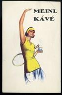 TENISZ , Meinl Kávé, Régi Reklám Képeslap 1920. Cca.  /  TENNIS Meinl Coffee, Adv. Vintage Pic. P.card Ca. 1920 - Hungary