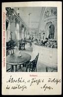 BUDAPEST 1908. Hotel Metropol , Petánovits József Szálloda, Kávéház Belső, Ritka Képeslap  /  1908 Hotel Metropol, Hotel - Hungary