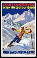 TÁTRAFÜRED Szignált Reklám Képeslap, Lechner Marianne. Síelés  /  Signed Adv. Vintage Pic. P.card Marianne Lechner. Skyi - Slovakia