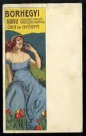 Borhegyi Borvíz , Litho Art Deco Reklám Képeslap / Mineral Water Advertisement, Art Nouveau Litho - Hungary