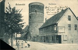 Salzwedel Karlsturm (manque Un Coin Gauche La Carte) - Salzwedel