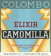 "2386 "" ELIXIR CAMOMILLA - DISTILLERIE COLOMBO "" ETIC. ORIG. - Etichette"